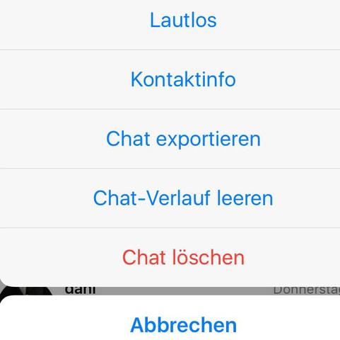 ....... - (WhatsApp, Nachrichten entgültig löschen)