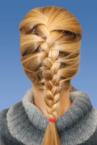 Französischer Zopf - (Schule, Frisur, lange Haare)