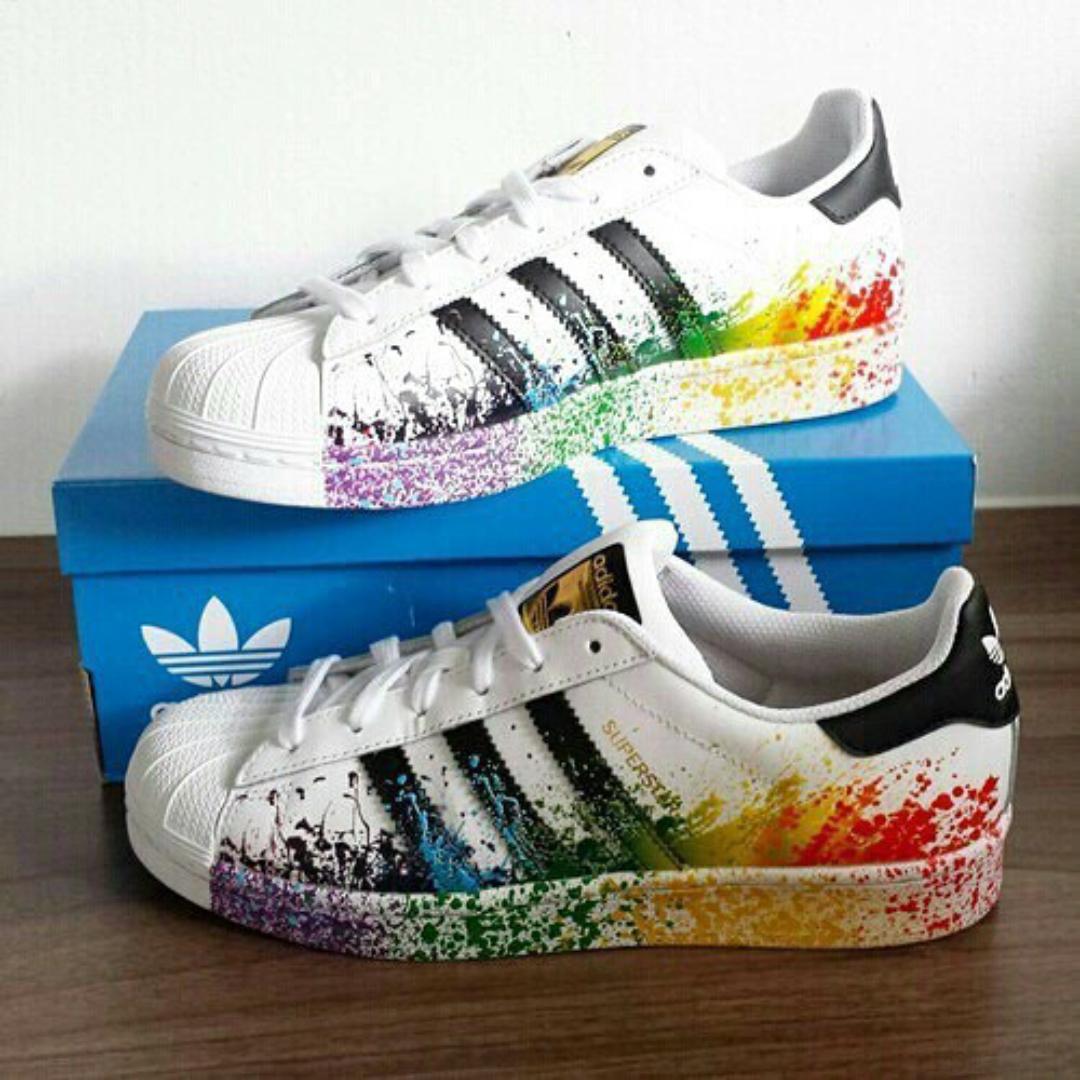 buy online bbc74 83e96 adidas superstar türkise streifen