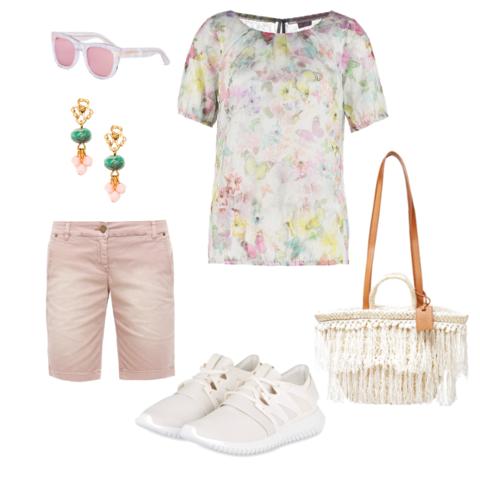 Längere Shorts (c) OneOutfitPerDay - (Mode, Kleidung, Klamotten)