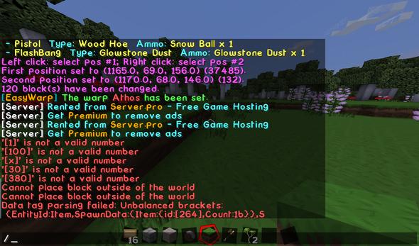 - (Minecraft, Minecraft-Server, MInecraft Item spawner)