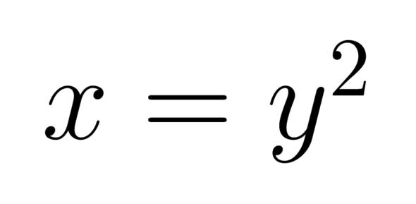 x = y hoch 2 - (Mathematik, Funktion, webdesign)