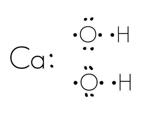 - (Chemie, strukturformel, Calciumhydroxid)