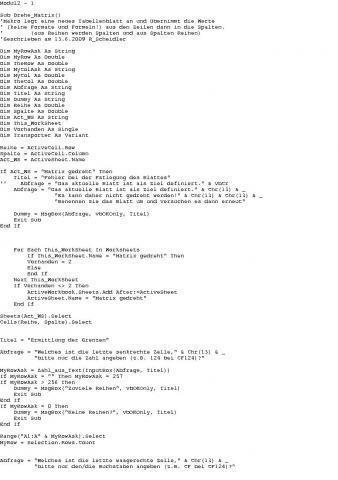Falls oben der Code verhunzt wurde - (Computer, Excel)