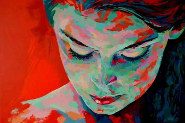 Hestia,     Acryl auf Leinwand,  Maße: 120 x 80 x 4 cm  - (spachteln, acrylmalerei)