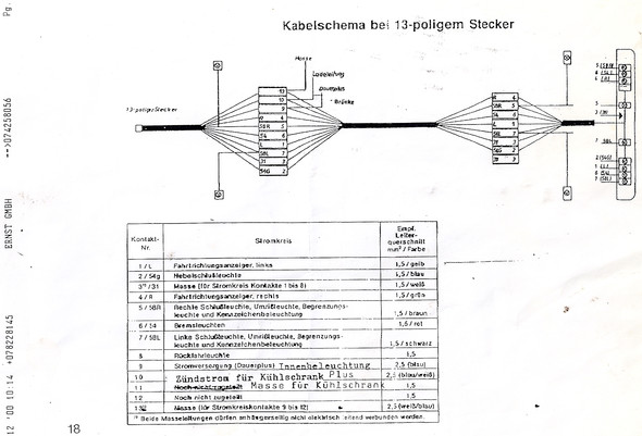 Berühmt 6 Wege Anhängersteckerdiagramm Bilder - Elektrische ...