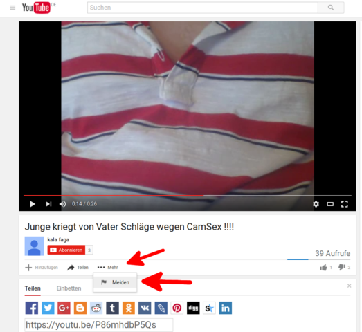 - (Youtube, Video, Betrug)