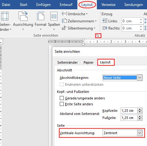 Word Text ausrichten - (Windows, Programm, Seite)