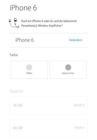 iPhone 6 Farbauswahl - (Apple, Farbe)