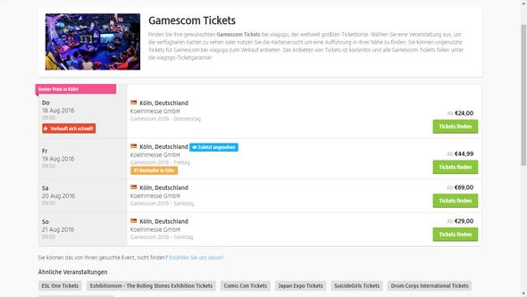 Hier ist ein Sreenshot - (Ticket, Gamescom)