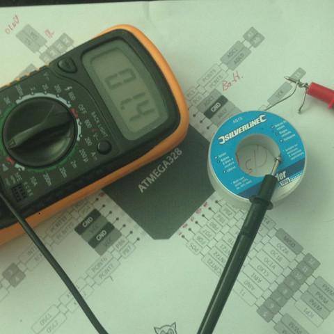Bleihaltiges lötzinn am Mutlimeter (bereich 200ohm) - (Technik, Elektronik, Elektrik)