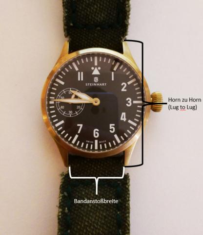 Uhrengröße Horn-Zu-Horn - (Größe, Uhr)