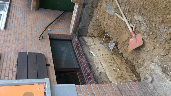 Unsere Kellerwand... - (bauen, trocken, Keller)