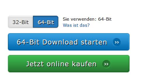 32 oder 64 bit lassen sich hier auswählen - (Computer, PC, Windows)
