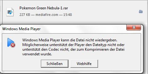 So sieht das dann aus wenn ich das Heruntergeladen habe und es öffnen will - (Pokemon, downloaden, Link)