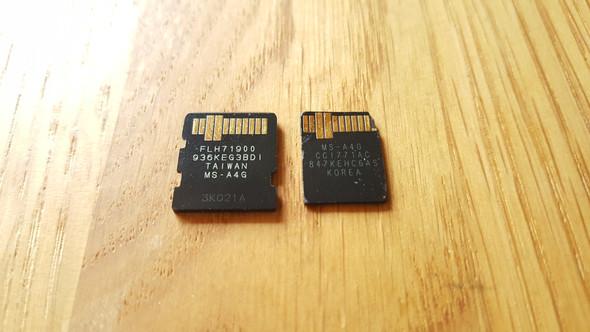 Vergleich der Kontakseite (links Vorher, rechts Nachher) - (Computer, Datenrettung, MicroSD Karte beschädigt)