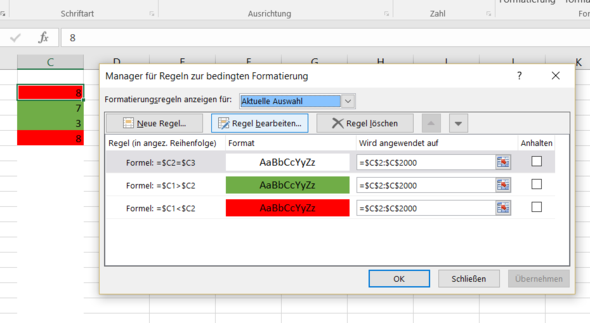 Bedingte Formatierung - (Excel, bedingte-formatierung)