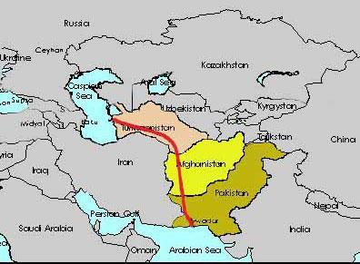 USD3-5 trillion in oil and natural gas from the Caspian Sea basin via Turkmenistan Afghanistan and Pakistan-pipeline - (Politik, USA, Drogen)