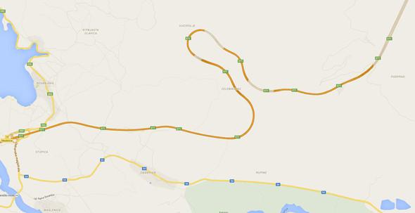 Goggle-Maps Sveti Rok - (Tunnel, Sperre, Kroatien)