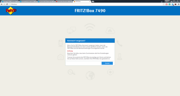 - (Fritz Box, heimnetz)