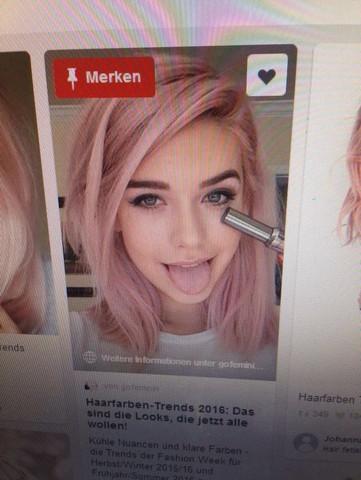 - (Haare, Frisur, Haarfarbe)