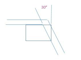 Der Balken muss 30° längs geschnitten werden - (Mathematik, Konstruktion, Winkelberechnung)