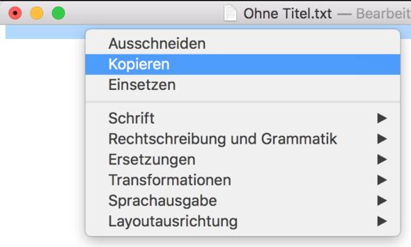Zeilenumbruch in TextEdit kopieren... - (Macbook, Videobearbeitung, iMovie)