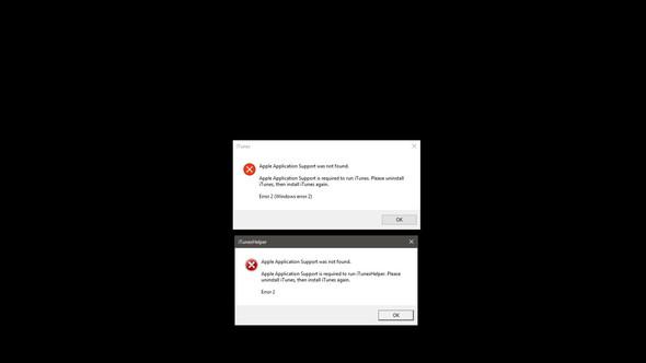Fehlermeldung Screenshot 3 - (iTunes, Windows 10, installieren)