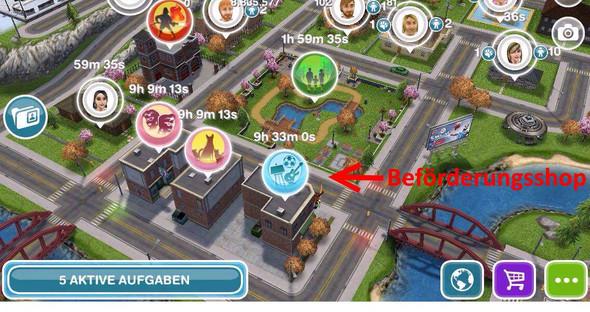 Beförderungsshop Sims Freeplay - (Technik, Games, Sims)