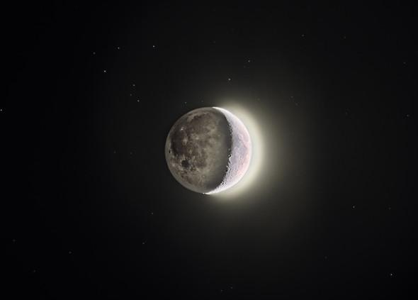 Erdschein - (Astronomie, Mond, mondfinsternis)