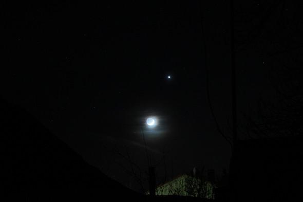 Erdschein und Venus - (Astronomie, Mond, mondfinsternis)
