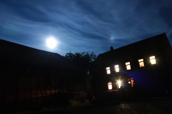 Mond mit Nebenmond - (Astronomie, Mond, mondfinsternis)