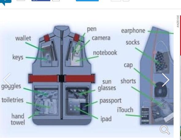 Gepäckweste - (Flugzeug, Handgepäck)