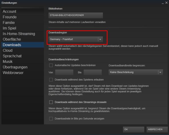Downloadserver ändern - (Steam, Fehler, Fehlermeldung)
