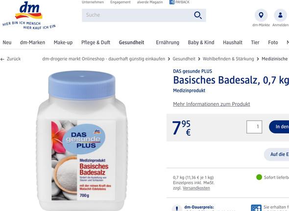 basisches Badesalz - (Arzt, Juckreiz, jucken)