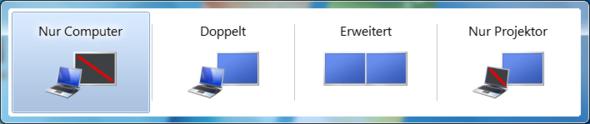 WindowsTaste + P - (PC, Monitor)