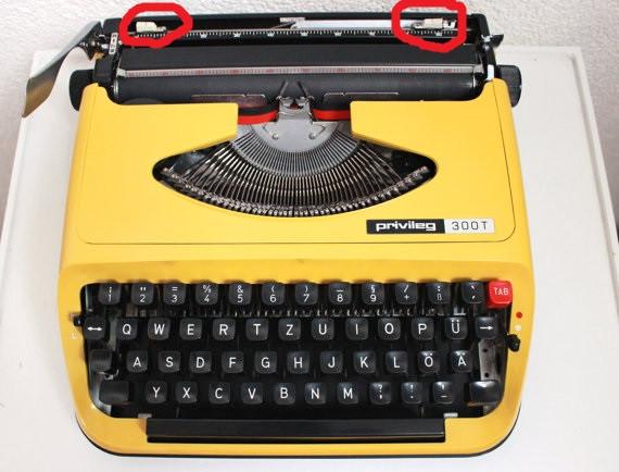 Schieber - (Einstellungen, Schreibmaschine Privileg 300T)