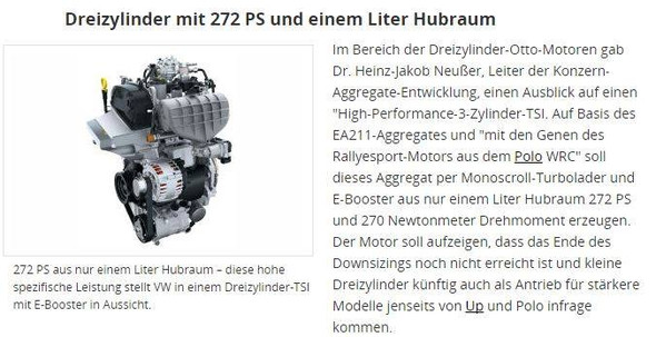 VW 1.0 TSI 200kW - (Technik, Auto, Chemie)