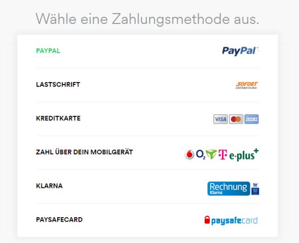 Zahlungsmethoden - (Musik, Spotify)