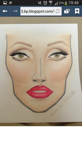 hier - (Make-Up, Zeichnung)