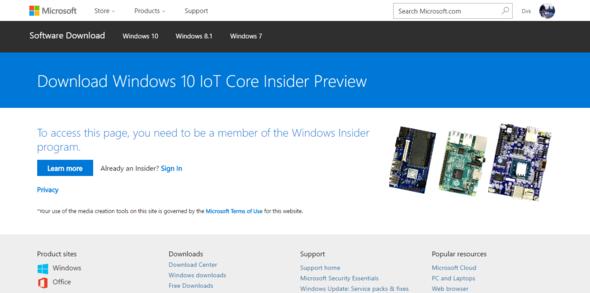 - (Windows 10, insider, iot)