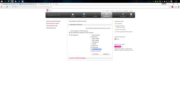 Mac filterung - (WLAN, Speedport, W724V)