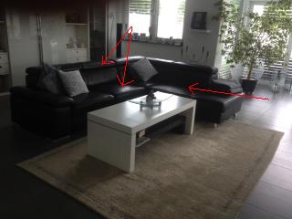 unser gepflegtes Sofa mit Schaden - (Couch, Polstermöbel, Beldomo XXL Lutz)