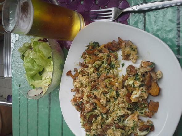 Eierschwammerl mit Ei - (essen, Kochen, Pilze)