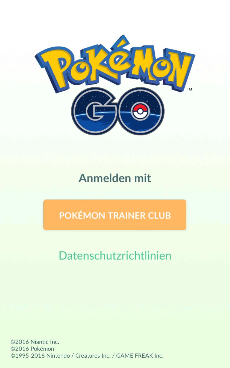 Mit Google Konto bei pokemon go anmelden?