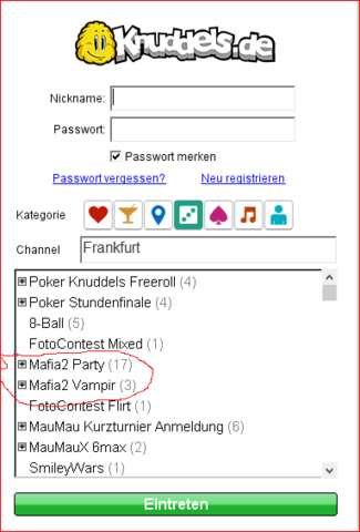 Knuddels - (online, Party, Chat)