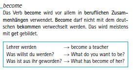 become - (Sprache, Englisch, Uebersetzung)