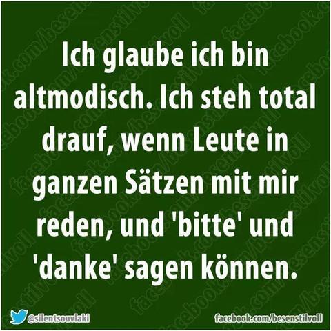 altmodisch - (danke, Unfair)