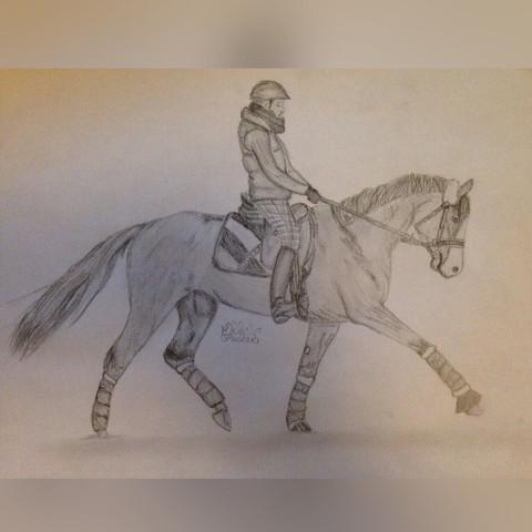 Pferd - (Kunst, zeichnen, malen)