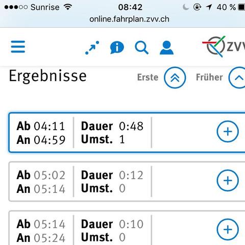 zvv.ch - (Reise, Bahn, Schweiz)